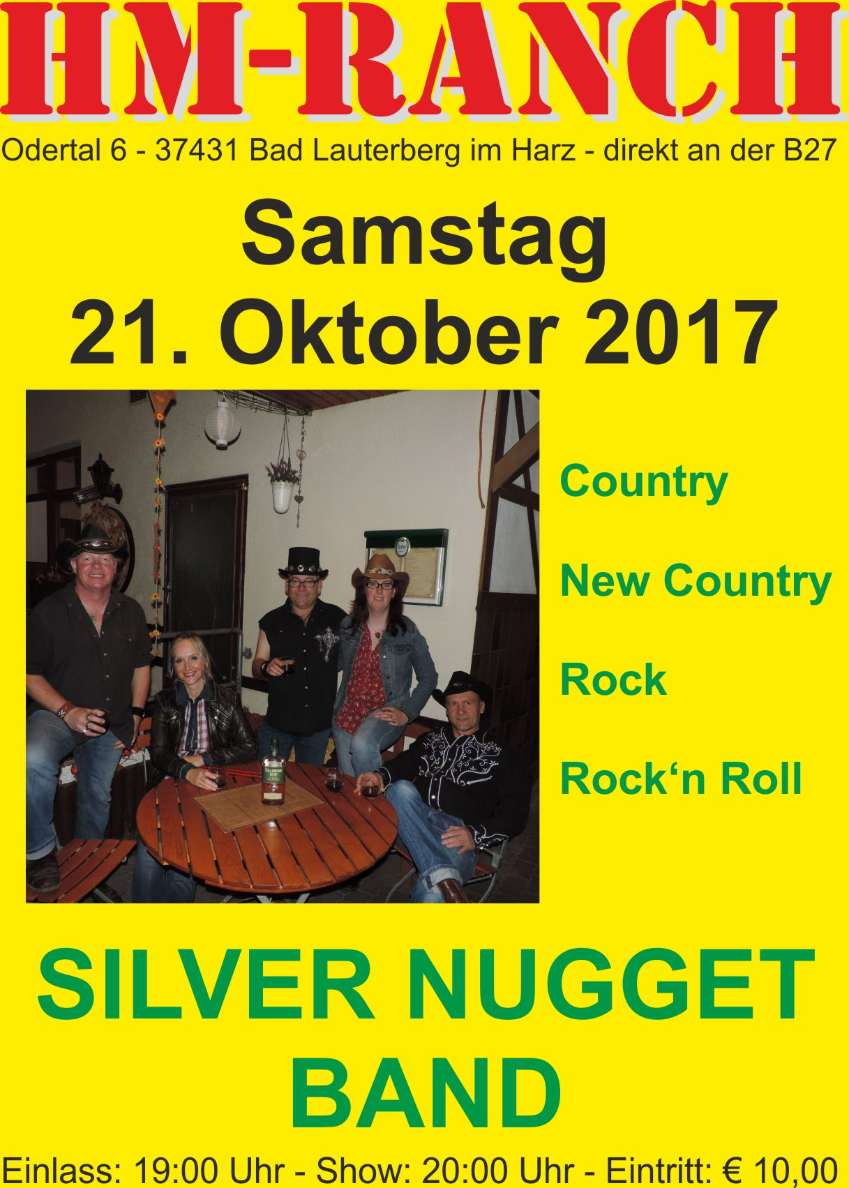 10 17 Silver Nugget Band