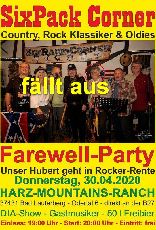 Farewell Party Unser Hubert geht in Rocker Rente