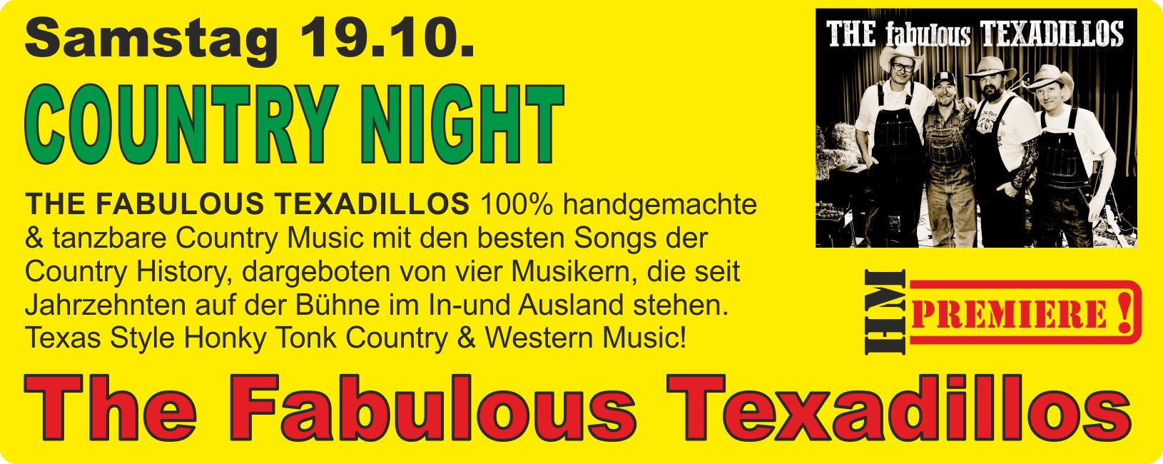 COUNTRY NIGHT mit The Fabulous Texadillos @ Harz Mountain Ranch | Bad Lauterberg im Harz | Niedersachsen | Deutschland