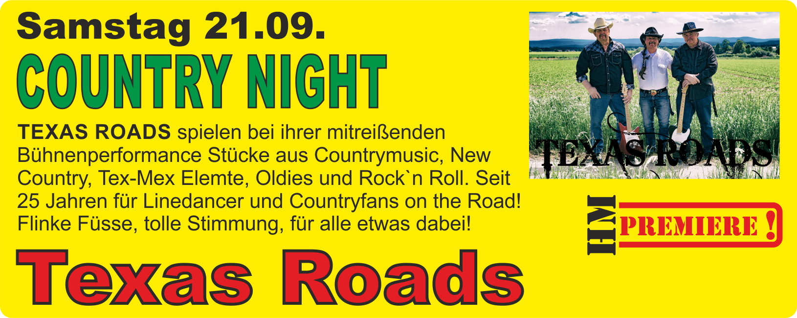 Country Night mit Texas Roads @ Harz Mountain Ranch | Bad Lauterberg im Harz | Niedersachsen | Deutschland