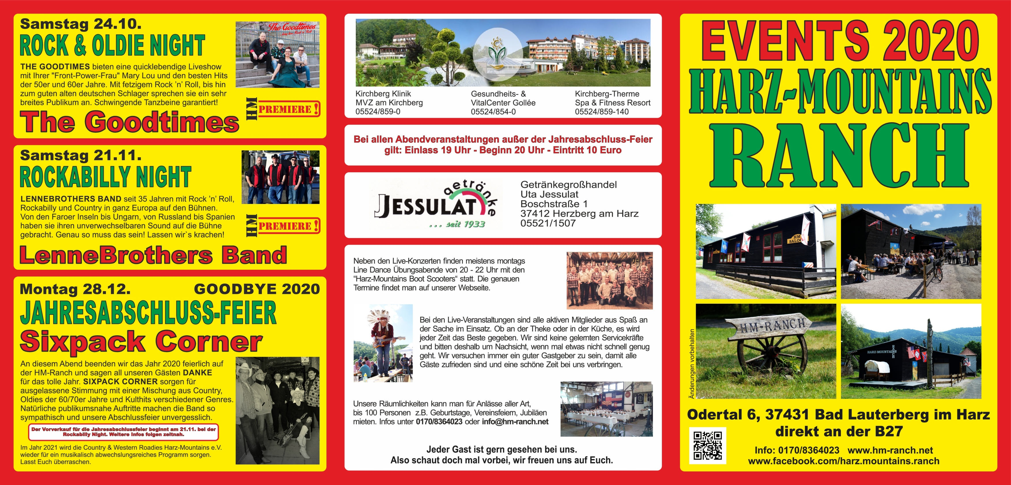 Events 2020 Country & Western Roadies Harz Mountains e.V 37431 Bad Lauterberg im Harz 001